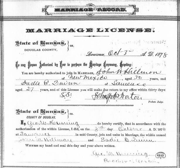 copy of kansas marriage license